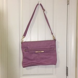 Lilac cross body/ convertible clutch